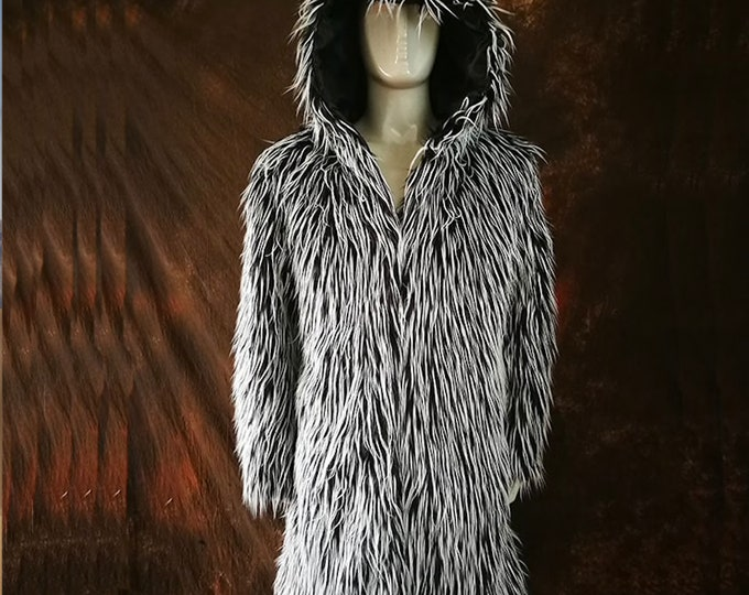 Mens Faux Fur Coat, Mans Fur Jacket, Fur Coat, Fur Jacket.