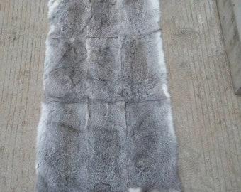 Genuine Rabbit Fur Pelt, Real Fur Blanket