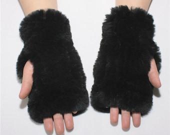 Genuine Rabbit Fur Hand Warmers