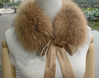 d6c20b3e6aa Genuine Fox or Raccoon Fur Collar