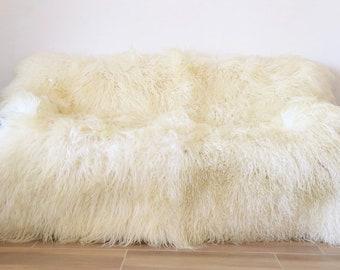 Mongolian Lamb Wool Throw