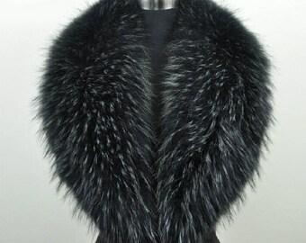 100% Real Raccoon Fur - Collar Made to order