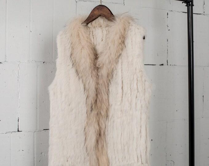 Rabbit and Raccoon Fur Vest (short)