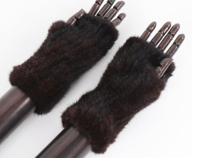 Genuine Mink Fur Hand Warmers, Real Fur Gloves.