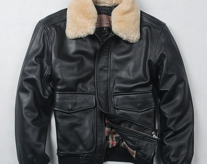 Mens Leather hooded Jacket, Mens Real Leather Coat, Real Leather.