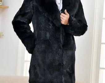 Mens Real Fur Coat, Rabbit Fur Jacket, Fur Coat, Fur Jacket.