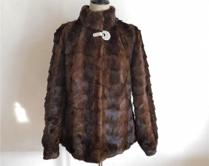 Russian Mink Fur Coat, Real Fur.