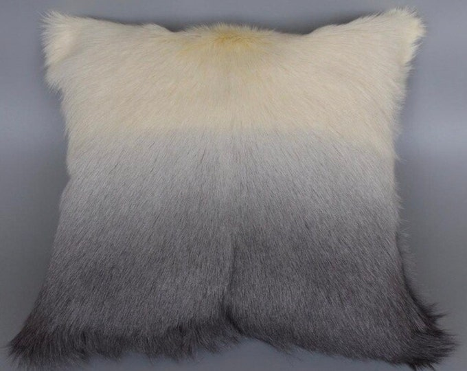 Ombre Goat Skin Pillowcase Cover.