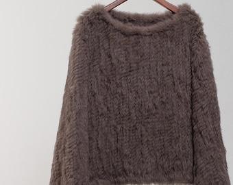 Comfortable Rabbit Fur Sweater, Fur Pullover, Real Fur Jacket, Real Fur Coat.