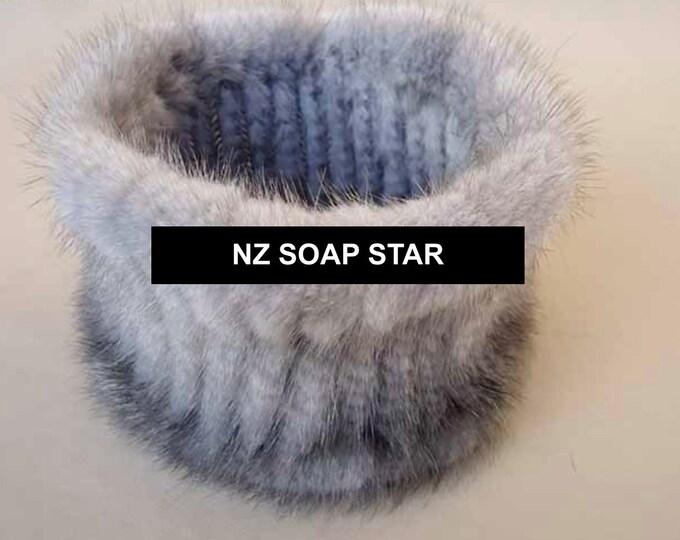 Real Mink Fur Scarf, Real Fur Headband, Fur Scarf.