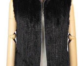 Mens Real Fur Vest, Knitted Mink Fur Vest, Mens Fur Coat, Mens Fur Jacket.