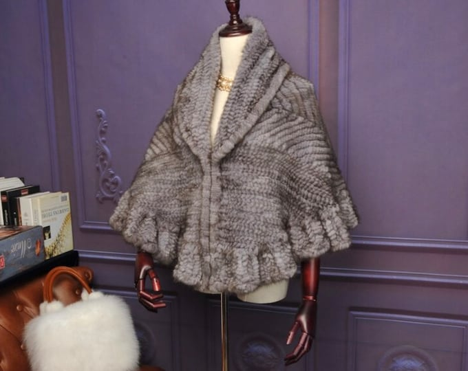 Mink Fur Cape, Real Fur Poncho, Fur Vest, Fur Coat