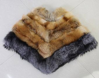 Fox Fur Poncho, Fox Fur Cape