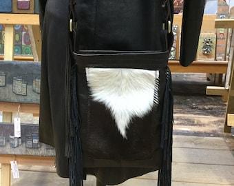 Leather Fringe Bag (genuine cow hide)