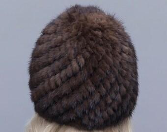 Real Mink Fur Hat, Real Fur Hat, Fur Hat.