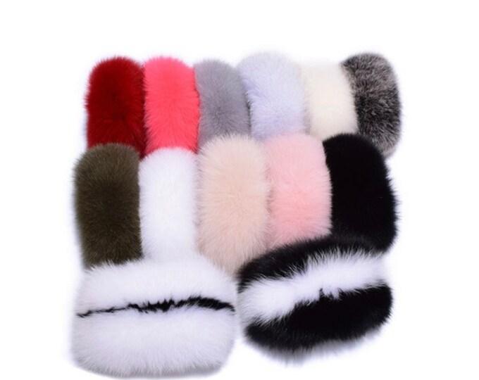 Fox Fur Cuffs, Real Fur Cuffs.