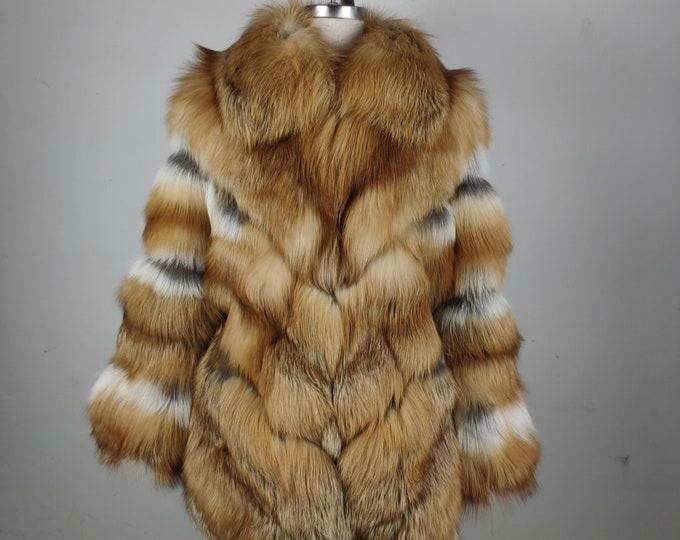 Fox Fur Coat, Fur Jacket, Real Fur Jacket.