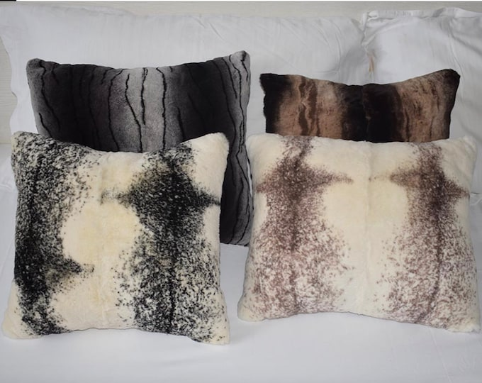 Rex Rabbit Fur Pillows 350mm X 450mm
