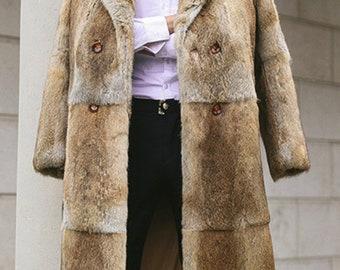 Mens Long Fur Jacket, Real Fur Coat.