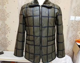 Mens Sheepskin Jacket, Mens Real Fur Coat.