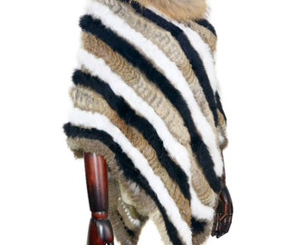 Rabbit Fur Cape / Fur Poncho