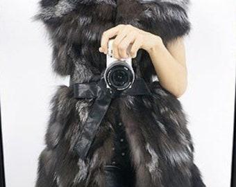 Genuine Fox Fur Vest, Real Fur.