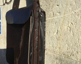 Large Size Genuine New Zealand Cowhide Bag