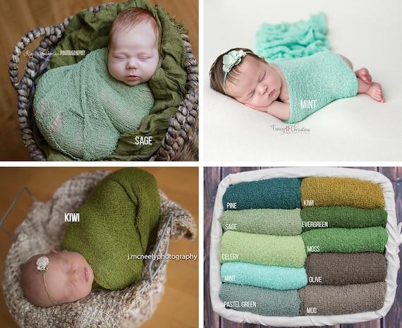 Green Stretch Knit Wraps