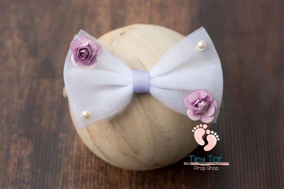 Rainbow Flower Nylon Newborn Headband