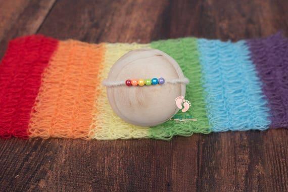 Rainbow Baby Mohair Wrap Set