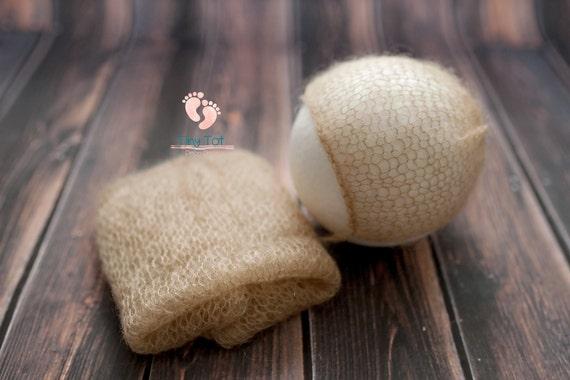 Caramel Mohair Bonnet + Wrap