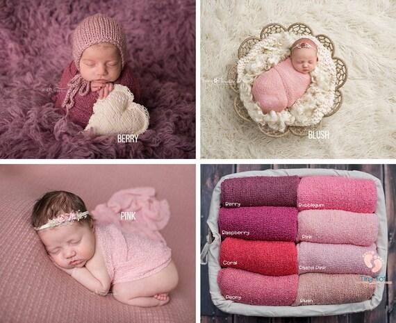 Pink Stretch Knit Wraps