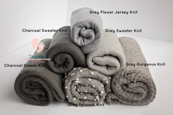 Grey Knit Wrap Bundle