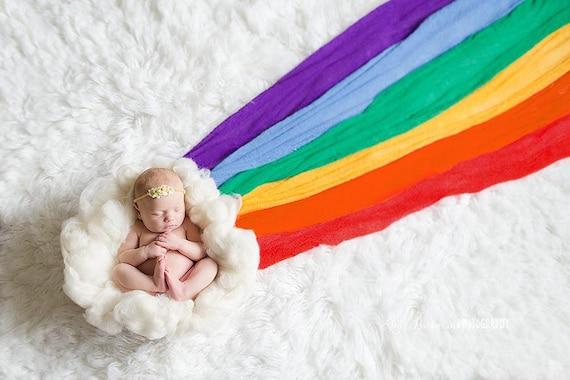Rainbow Baby Stretch Knit Set [6 Wraps]