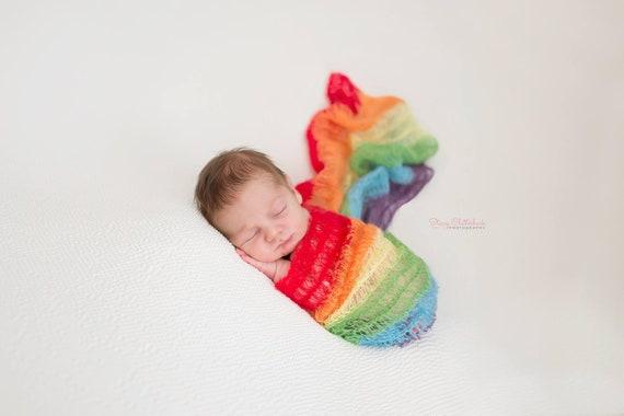 Rainbow Baby Mohair Wraps