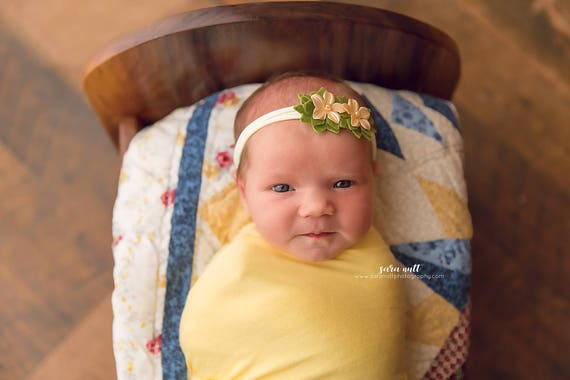 Felt Flower Nylon Newborn Headband