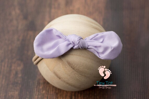Purple Nylon Newborn Headband
