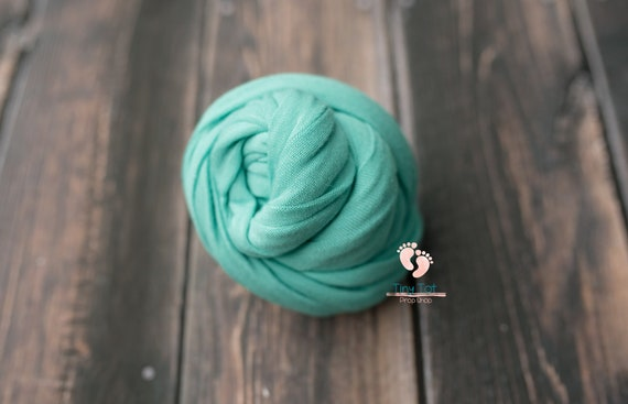 Turquoise Jersey Knit Wrap