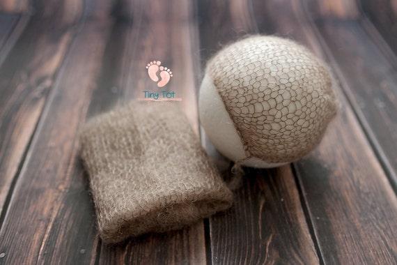 Chocolate Mohair Bonnet + Wrap