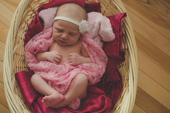 Pink Newborn Lace Layer