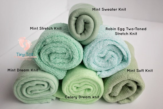Mint Green Knit Wrap Bundle