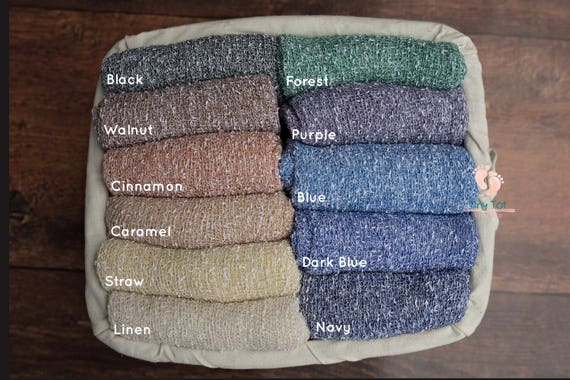 Two-Toned Stretch Knit Wraps
