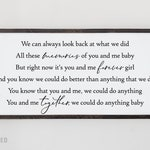"Dave Matthews Band ""You and Me"" wood sign 