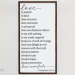 Love is Patient Love is Kind Framed wood sign | 1 Corinthians 13 | farmhouse decor | scripture wall art | christian gifts for her