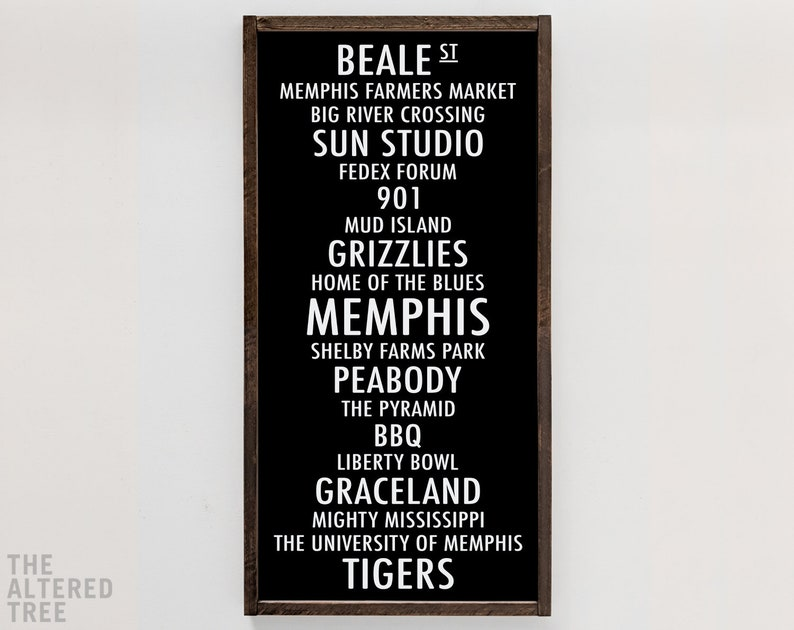 Memphis TN subway sign  901 hometown pride wood sign  White on Black