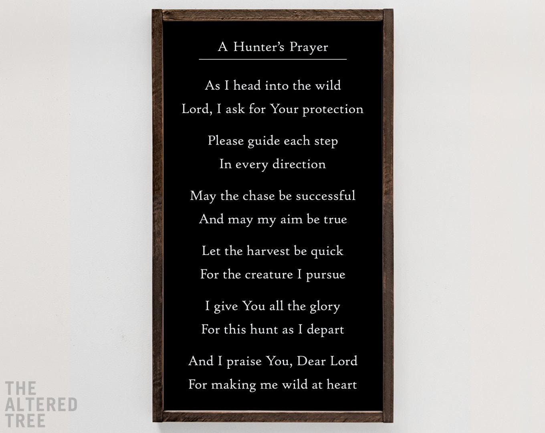 A Hunter\'s Prayer sign hunting cabin decor deer camp | Etsy