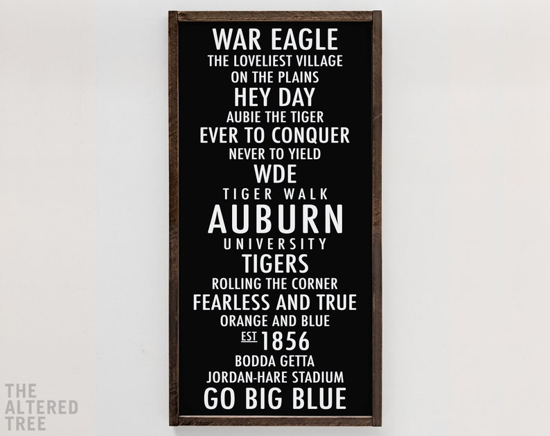 Auburn University subway sign  War Eagle bus scroll  AU White on Black