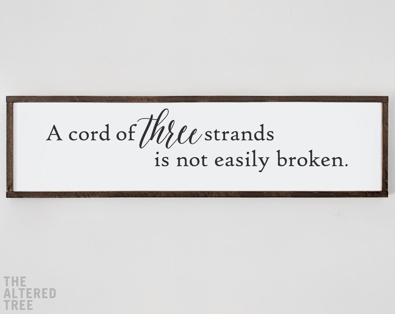 A Cord of Three Strands sign  master bedroom  farmhouse image 0