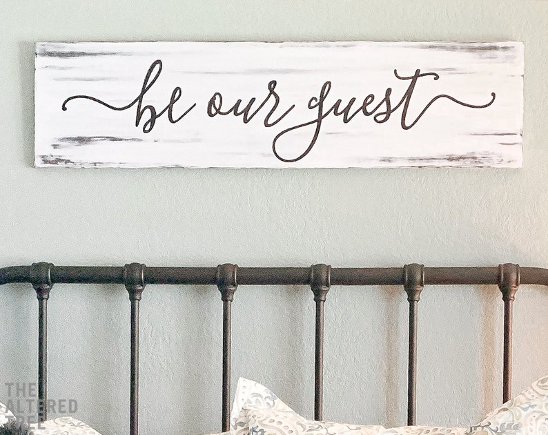Be Our Guest sign  Guest house decor  Guest room sign  Be image 0