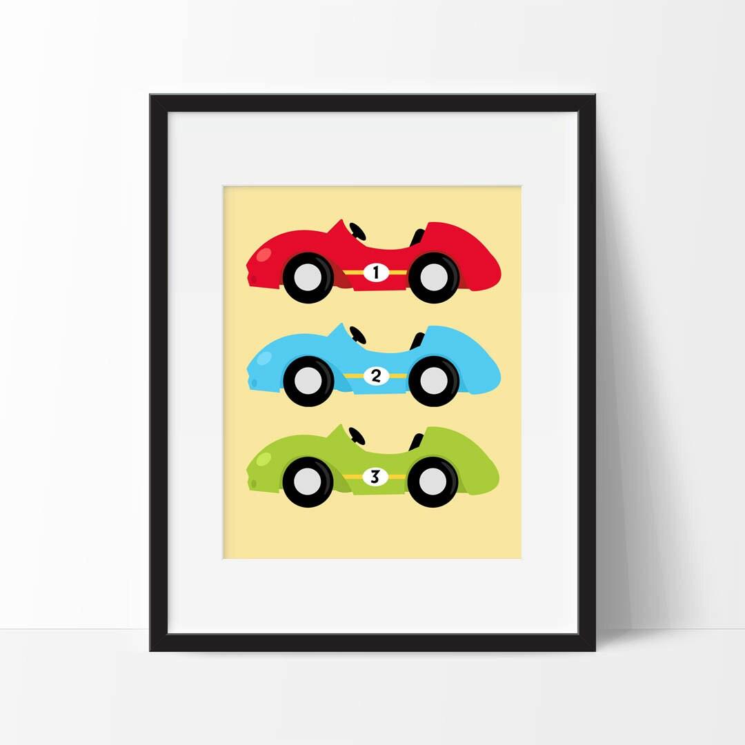 Race Cars Nursery Art Printable Race Car Nursery Decor Boy | Etsy